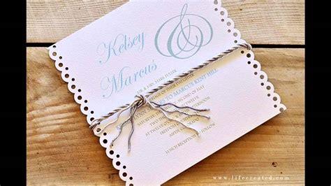 easy simple diy wedding invitation ideas youtube