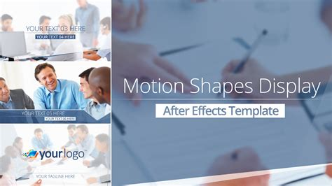 sell after effects templates motion shapes display