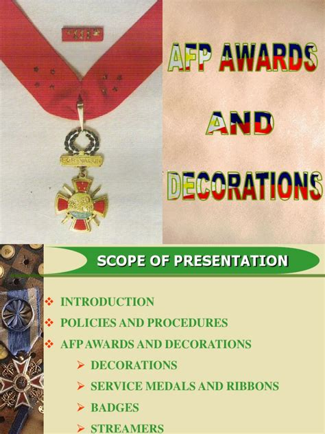 awards and decorations afp awards and decorations ppt