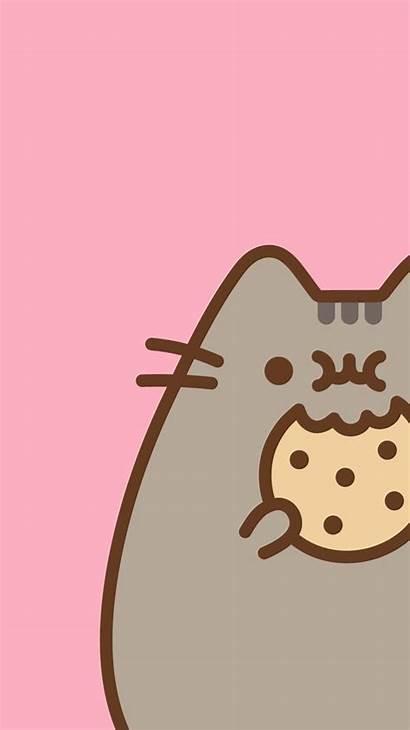 Pusheen Kawaii Cat Wallpapers Gatos Nerdy Iphone