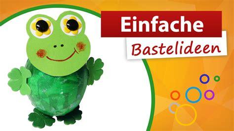 einfache bastelideen frosch basteln trendmarkt bastelideen kindergeburtstag youtube