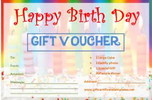 Birthday Gift Certificate Templates Free