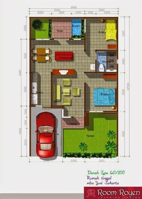 gambar  denah rumah minimalis type