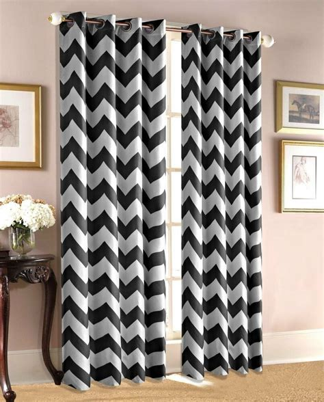 insulated drapery panels chevron 37 quot wide insulated thermal blackout window grommet