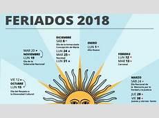 ¿Cómo será el calendario de feriados puente para 2018