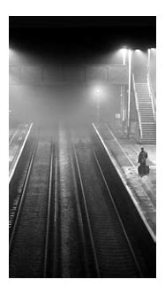 landscape, Monochrome, Train Station, Railway, Night, Mist ...