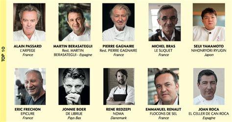 les grands chefs de cuisine francais les classement des 100 chefs 2017 par le magazine le chef