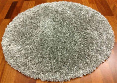 rond vloerkleed  cm shaggy deluxe zilver