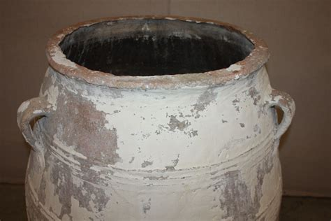 Large Clay Planters For Sale by Large Antique Terracotta Olive Jar Pottery For Sale