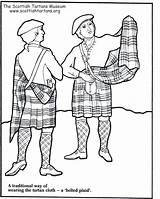 Kilt Coloring Pages Scottish Template Plaid Scotland Tartan Things Sketch Amy sketch template