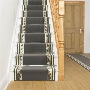 Key grey stair runner for Luxury stair carpet