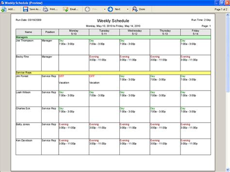 employee scheduling software  manufacturing