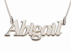 sterling silver name necklace block letters With name necklace individual letters