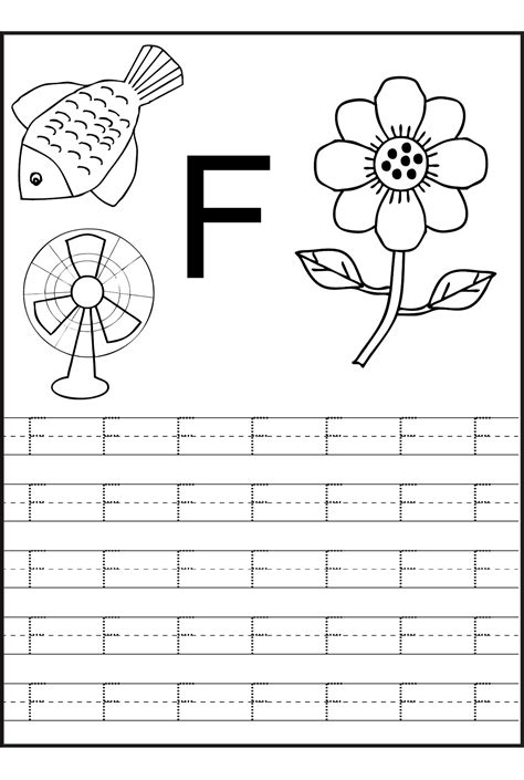 Letter F Worksheets Free Printable  Loving Printable