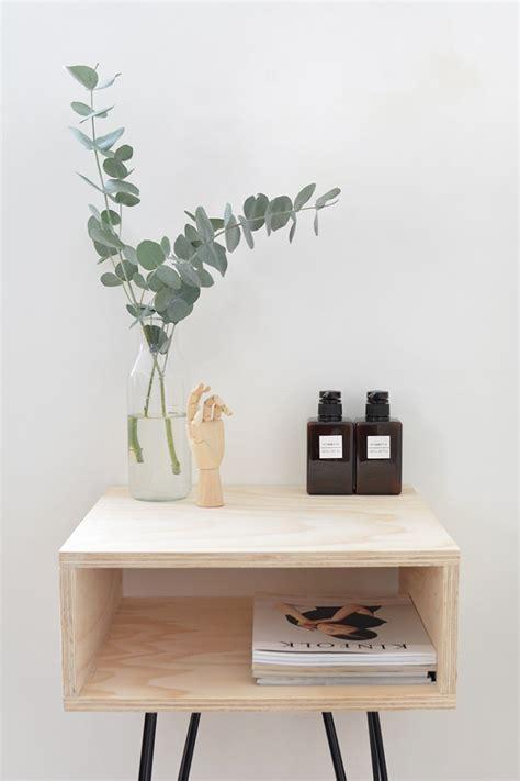 chic diy mid century modern nightstand shelterness