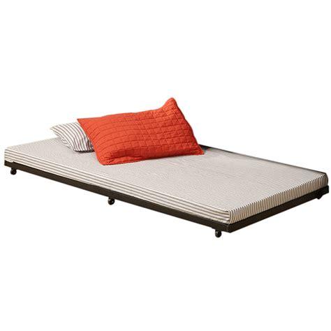 walker edison roll out trundle bed frame black bt40tbbl