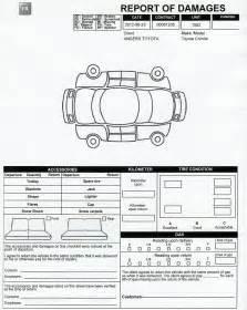 Rental Car Damage Inspection Form Template