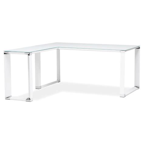 bureau d angle design quot hovik quot verre blanc