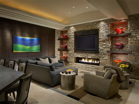Low Profile Fireplace Living Room Contemporary With Family