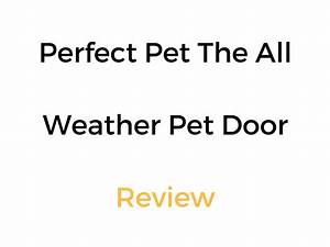 perfect pet the all weather energy efficient dog door review With perfect pet all weather dog door