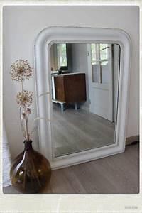Grand Miroir Vintage : grand miroir ancien bois platre restaure retrouver sur mon blog mon blog meubles vintage ~ Teatrodelosmanantiales.com Idées de Décoration