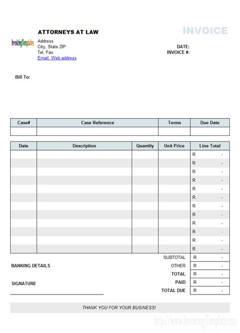 invoice template excel south africa invoice