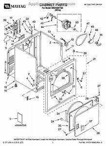 Parts For Maytag Med5600tq0  Cabinet Parts
