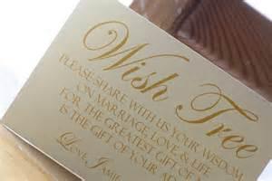 alternative wedding guest book ideas wedding wish tree tag sign