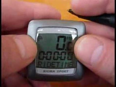Sigma Sport Bicycle Computer  How To Set Wheel Size Youtube