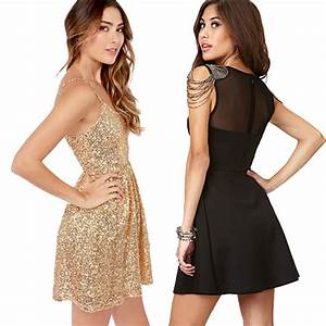 Gold Sequin Cocktail Dress Forever 21 - Prom Dresses Cheap