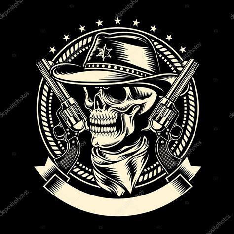 Dallas Cowboy Logo Wallpaper Crânio De Caubói Com Armas De Fogo Vetor De Stock Vectorfreak 67631555