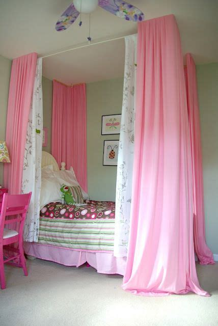 pink curtains for bedroom diy bed curtain bedroom ideas turning a 16737
