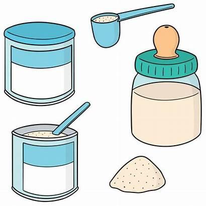 Powder Protein Vector Clip Milk Illustrations