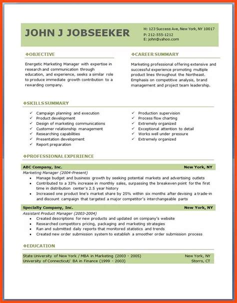 free pdf resume templates free resume template downloads pdf program format
