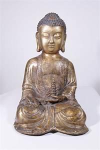 Statue De Bouddha : statue bouddha en bronze 10 012 140 galerie arts ethniques achat vente masques africains et ~ Teatrodelosmanantiales.com Idées de Décoration