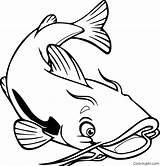 Catfish Coloring Printable Vector Coloringall Sum Easy Dzieci Dla Fish Channel Cat Down Drawings Upside Kolorowanka Cardinvitations Cyou Animals sketch template