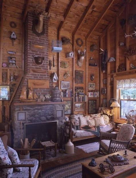 vintage rustic home decor http arcadianhome rustic cabin living room