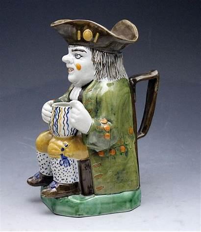 Antique Pottery English Toby Jug Century Prattware