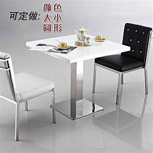 simple negotiation table front desk stainless white marble With small square white coffee table