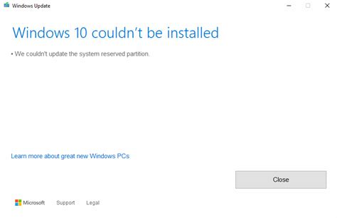 fix windows couldn t be installed we couldn t update the