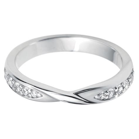 0 17ctw diamond twist wedding ring 18ct white gold in 2 sizes costco uk