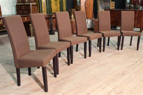 sedie rivestite in tessuto gruppo di 6 sedie rivestite in tessuto