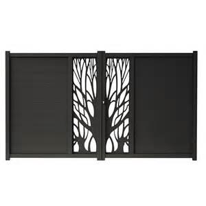 portail alu coulissant castorama portail en aluminium idaho noir castorama