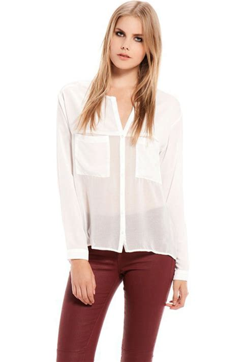 sheer white blouse white sheer button up blouse pixshark com images