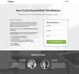 webinar landing page templates  unbounce