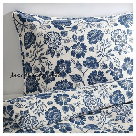 ikea white duvet ikea 100 linen 196 ngs 214 rt duvet quilt cover set white blue