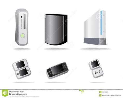 Game Console Icon Set Royalty Free Stock Photo Image