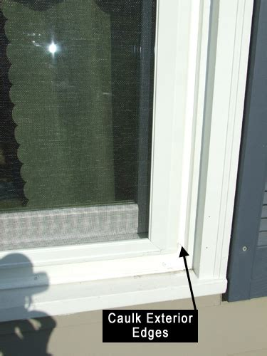 Caulking Window Sills by Caulk Exterior Of Replacement Windows Home Construction