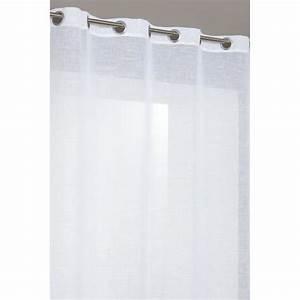 Rideau En Lin Blanc : rideau voilage en effet lin 140x240 cm blanc achat ~ Melissatoandfro.com Idées de Décoration
