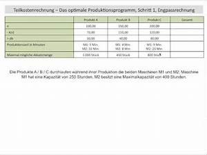 Optimales Produktionsprogramm Berechnen : teilkostenrechnung vollkostenrechnung fixe variable k doovi ~ Themetempest.com Abrechnung